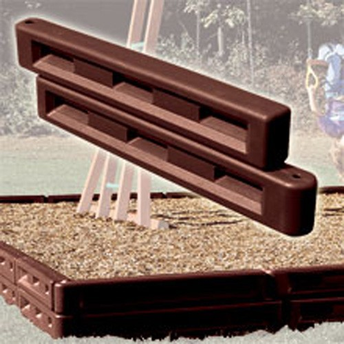 12 inch Plastic Molded Border for Landscape or Playground Mulch