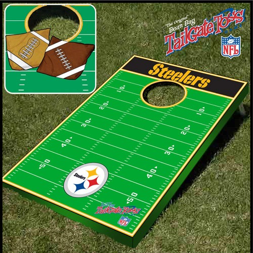 Tailgate Toss - NFL Licensed Football Field - Bean Bag Toss and Corn Hole Game