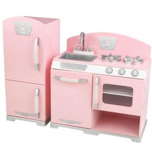 Kidkraft Pink Retro Kitchen w/ Refrigerator