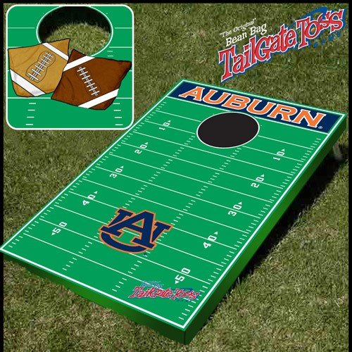 Tailgate Toss - NCAA Licensed Football Field - Bean Bag Toss and Corn Hole Game