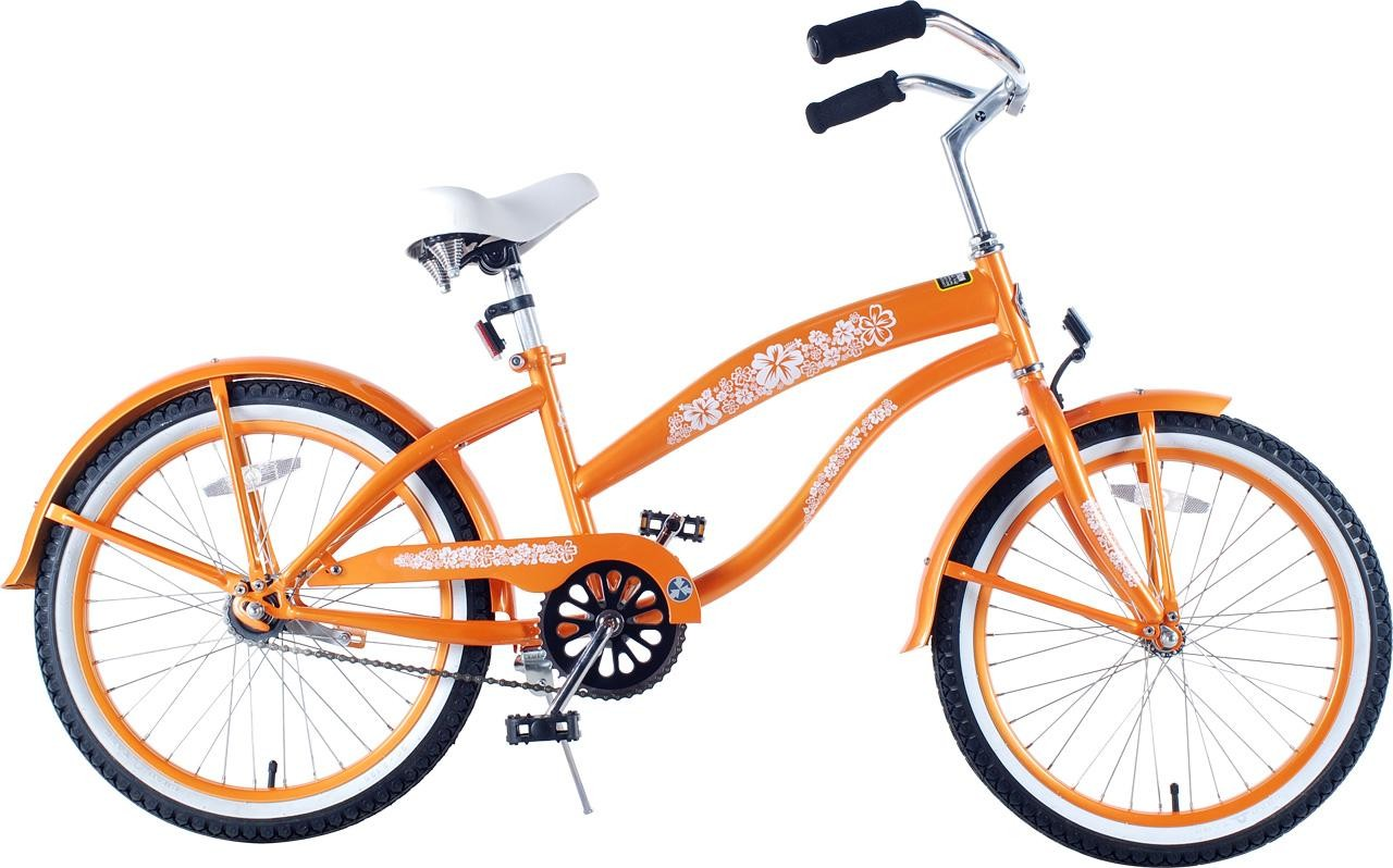Girls 20 Inch Extended Frame Beach Cruiser Orange