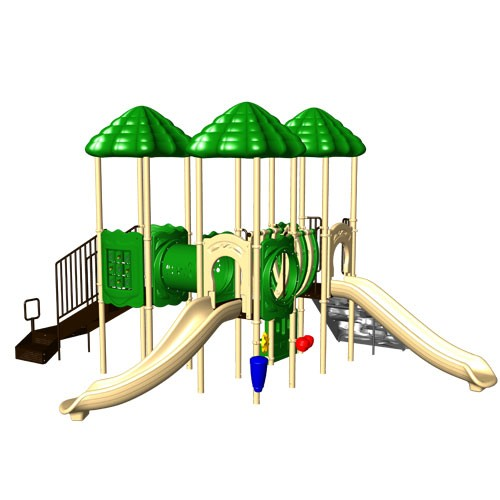 UPlay Cumberland Gap Triple Deck Commercial Playsystem - Natural