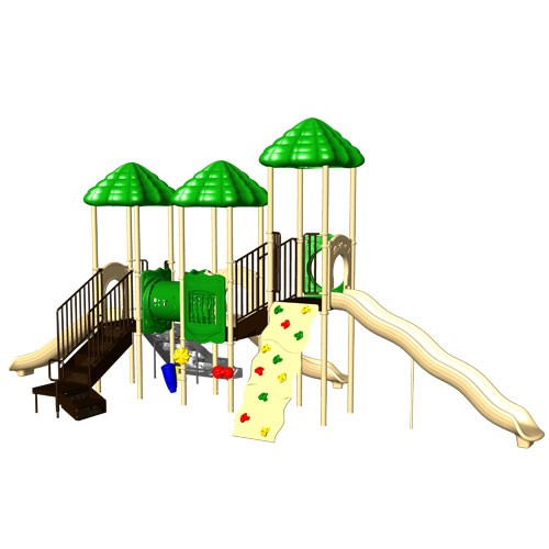 UPlay Rainbow Lake Triple Deck Commercial Playsystem - Natural