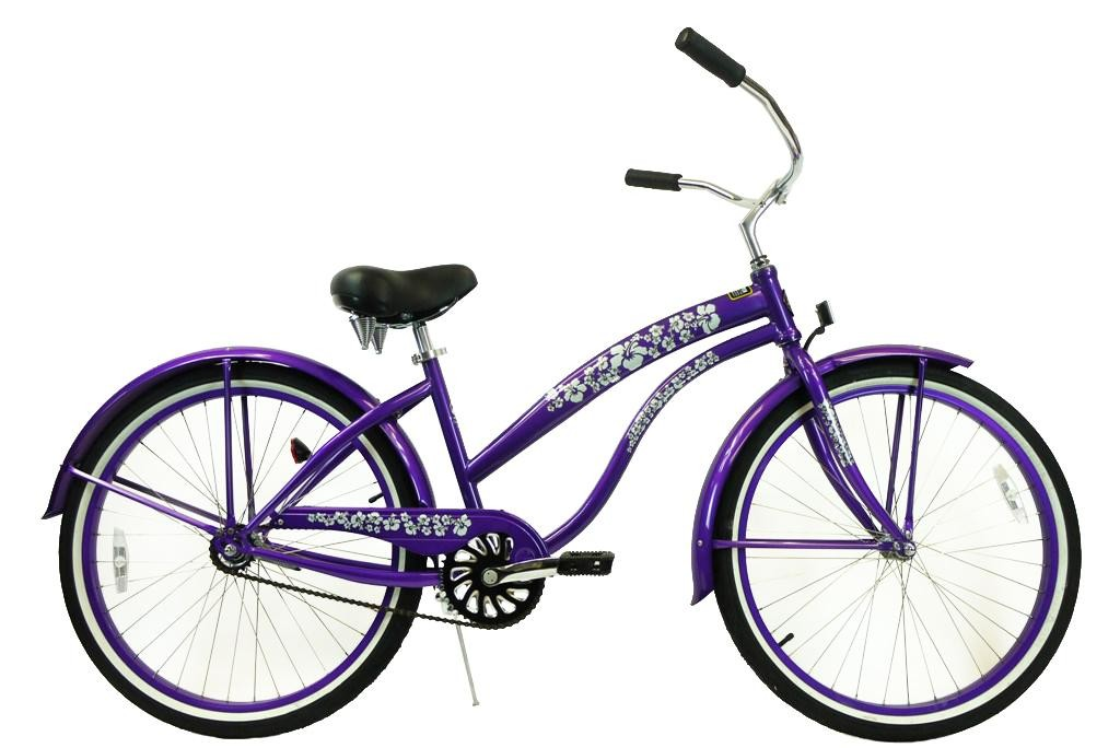 GreenLine Bicycles 26 Inch Ladies Single Speed Premium Beach Cruiser - Multiple Colors