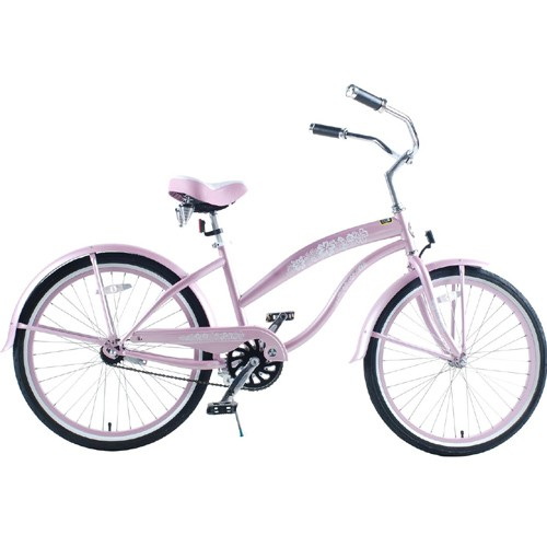 Greenline Ladies 24 Inch Deluxe Beach Cruiser - Pink