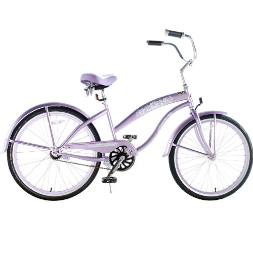Greenline Ladies 24 Inch Deluxe Beach Cruiser - Purple