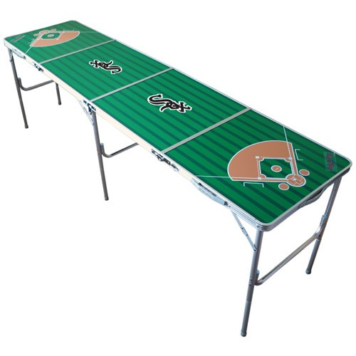 MLB Licensed Foldable Tailgate Table with Ping Pong Net