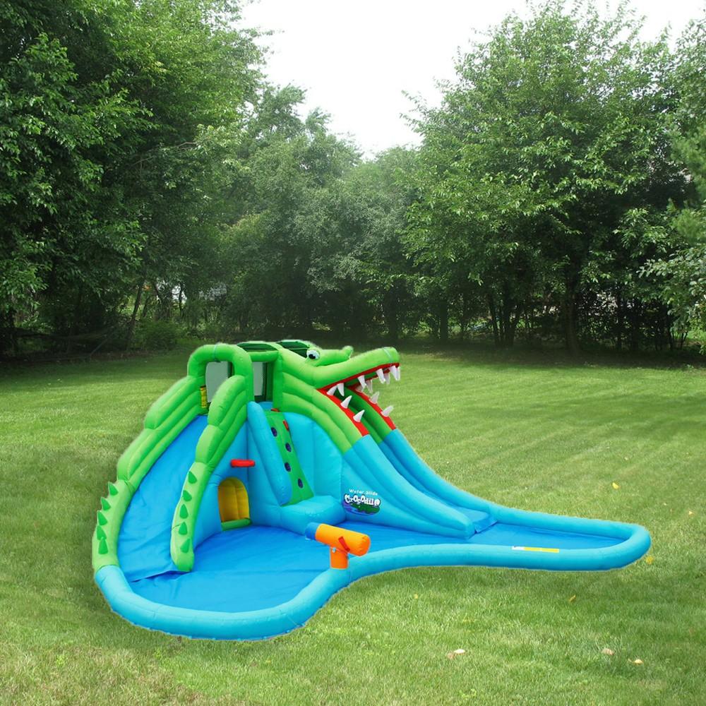 kidwise crocodile swamp water slide