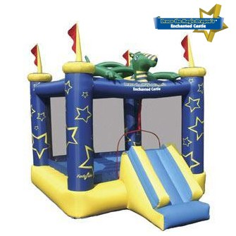 USED Draco The Magic Dragon Jumping Castle- Inflatable Bounce House