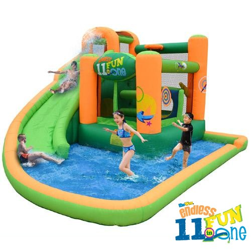 USED Endless Fun 11 in 1 Inflatable Bounce House and Water Slide