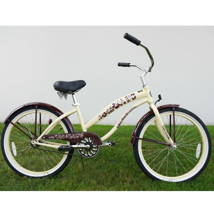 Greenline Ladies 24 Inch Deluxe Beach Cruiser - Vanilla
