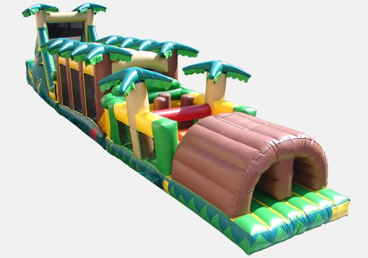 Tropical Obstacle Challenge (with water mid section) - Commercial Inflatable Obstacle Course