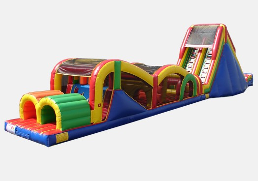 Extreme Rush Obstacle Course with 19' Slide - Commercial Obstacle Course