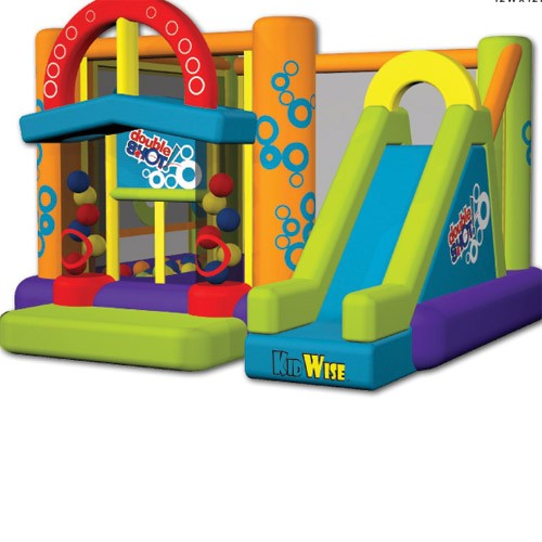 USED Double Shot Inflatable Bouncer