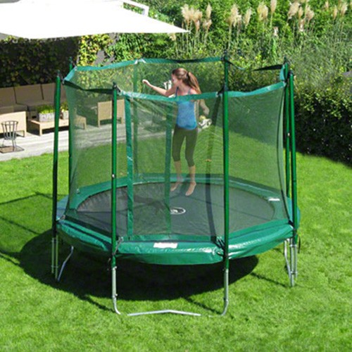 JumpFree 12 Foot Trampoline With Safety Enclosure - Green