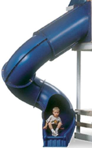 7 ft Turbo Tube Slide - Blue
