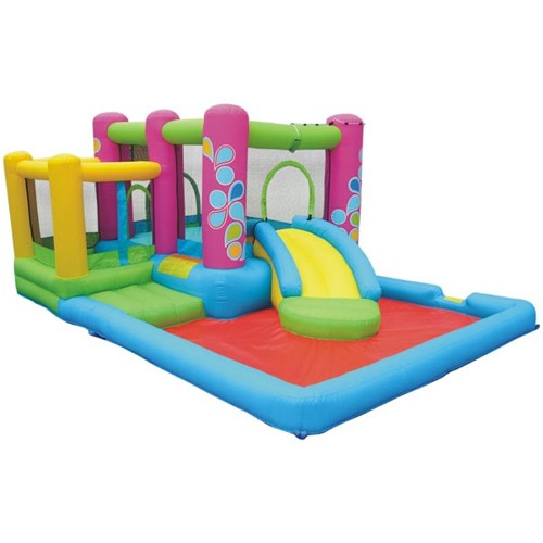 USED Little Sprout All-In-One Bounce 'N Slide Combo