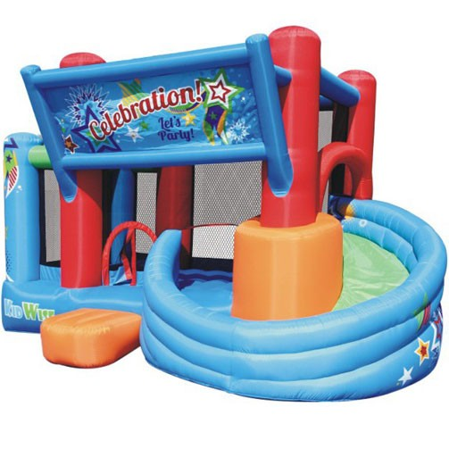KIDWISE Celebration Bounce House and Tower Slide