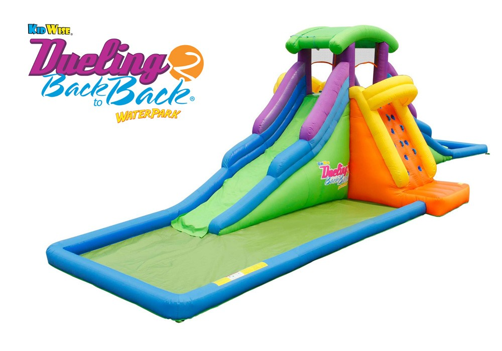 DUELING®2 Back to Back®  Inflatable Water Slide