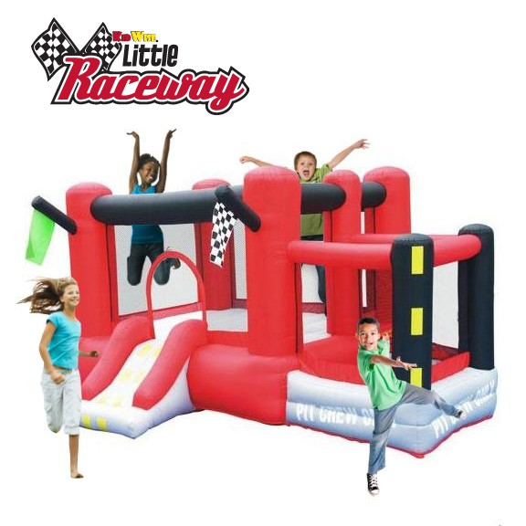 Little Raceway Bouncer - Inflatable Bounce House with Slide
