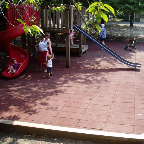 PlayFall Playground Safety Tiles 2' x 2' (4 sq. ft.) - Multiple Colors