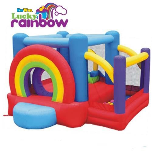 Refurbished  Kidwise Lucky Rainbow Bouncer - Inflatable Bounce House