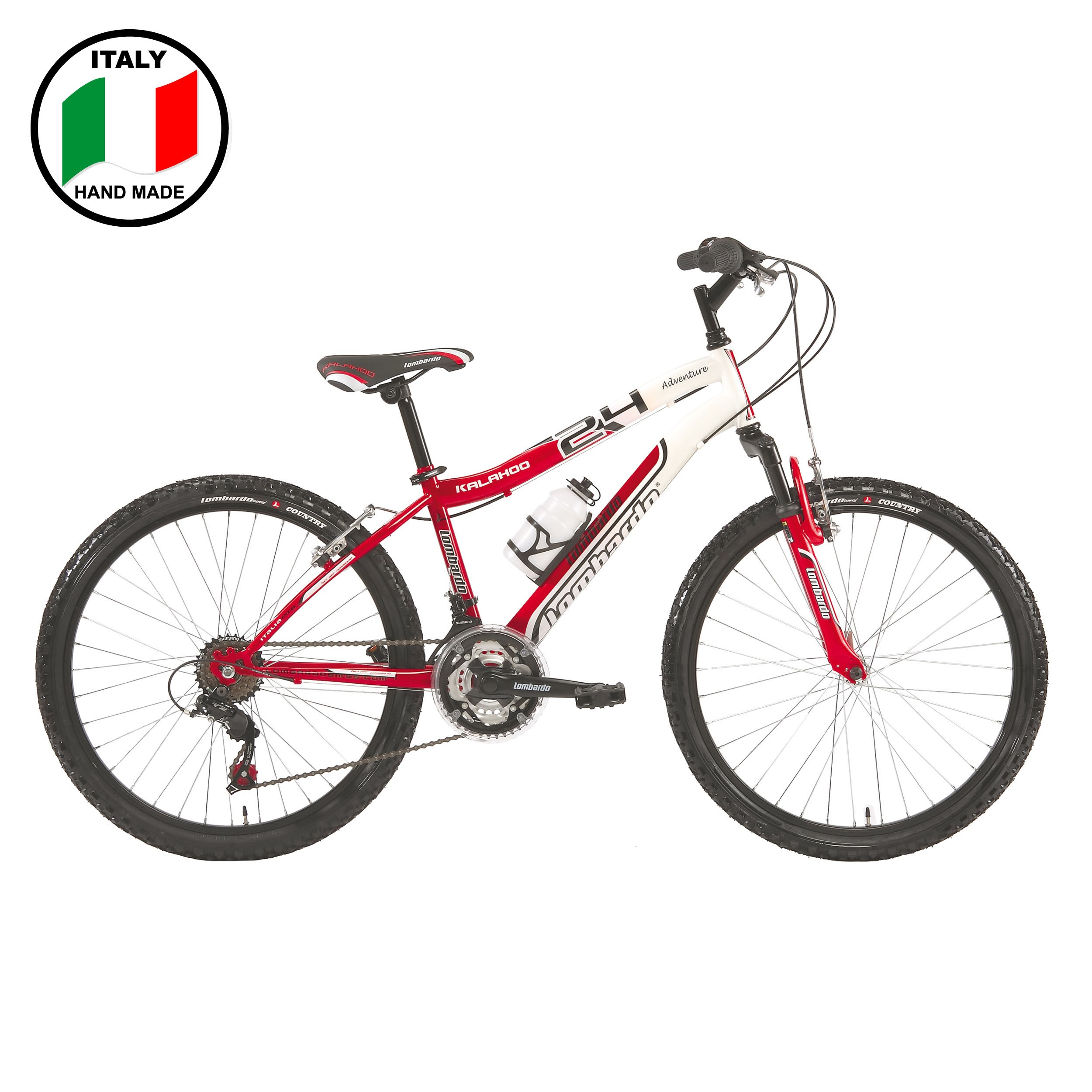 Lombardo Kalahoo  24 inch Men's Bike- Red and White