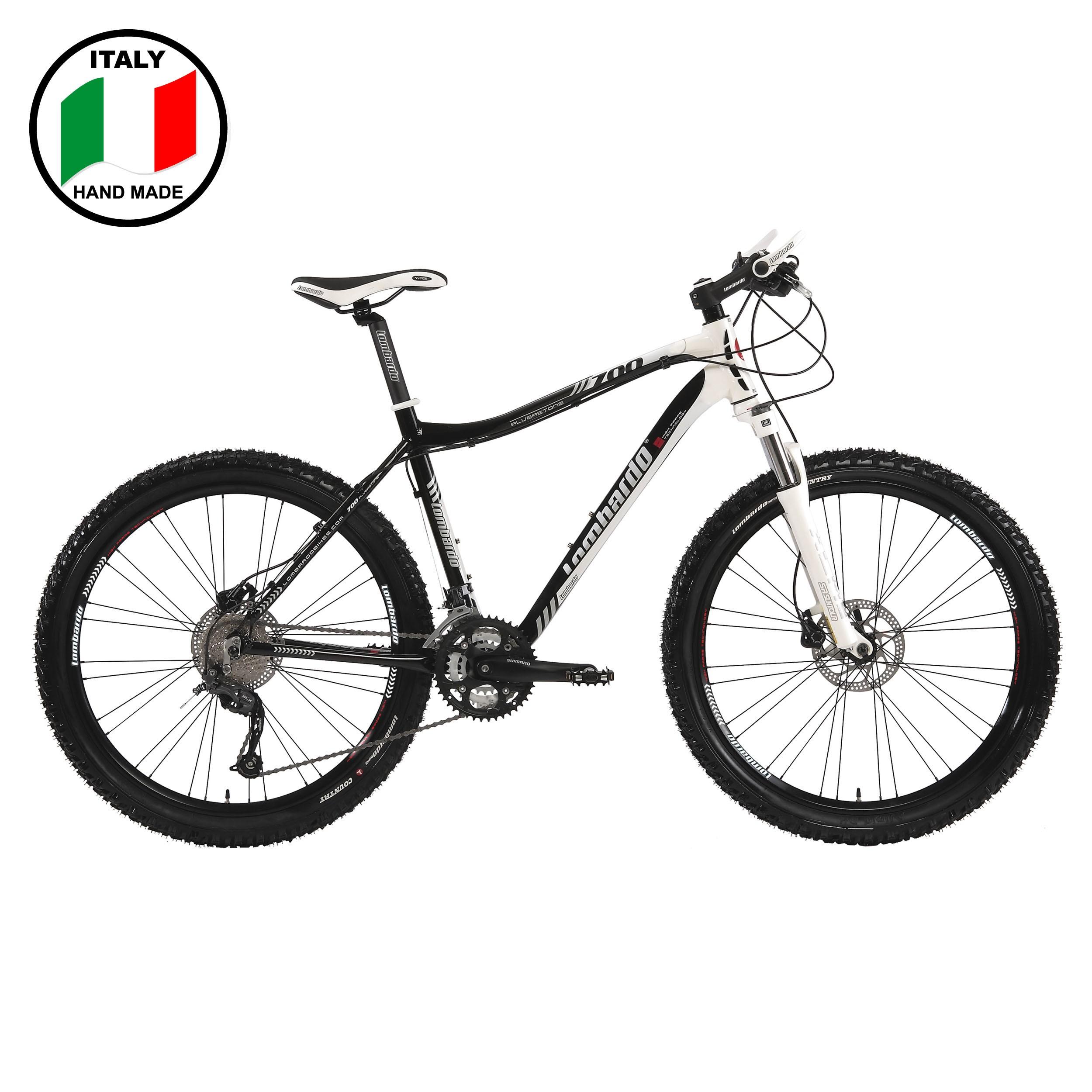 Lombardo Alverstone 700 26 inch Bike- Black and White