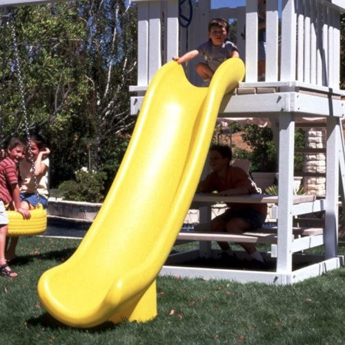 Scoop Slide for 5' Deck Height - Yellow