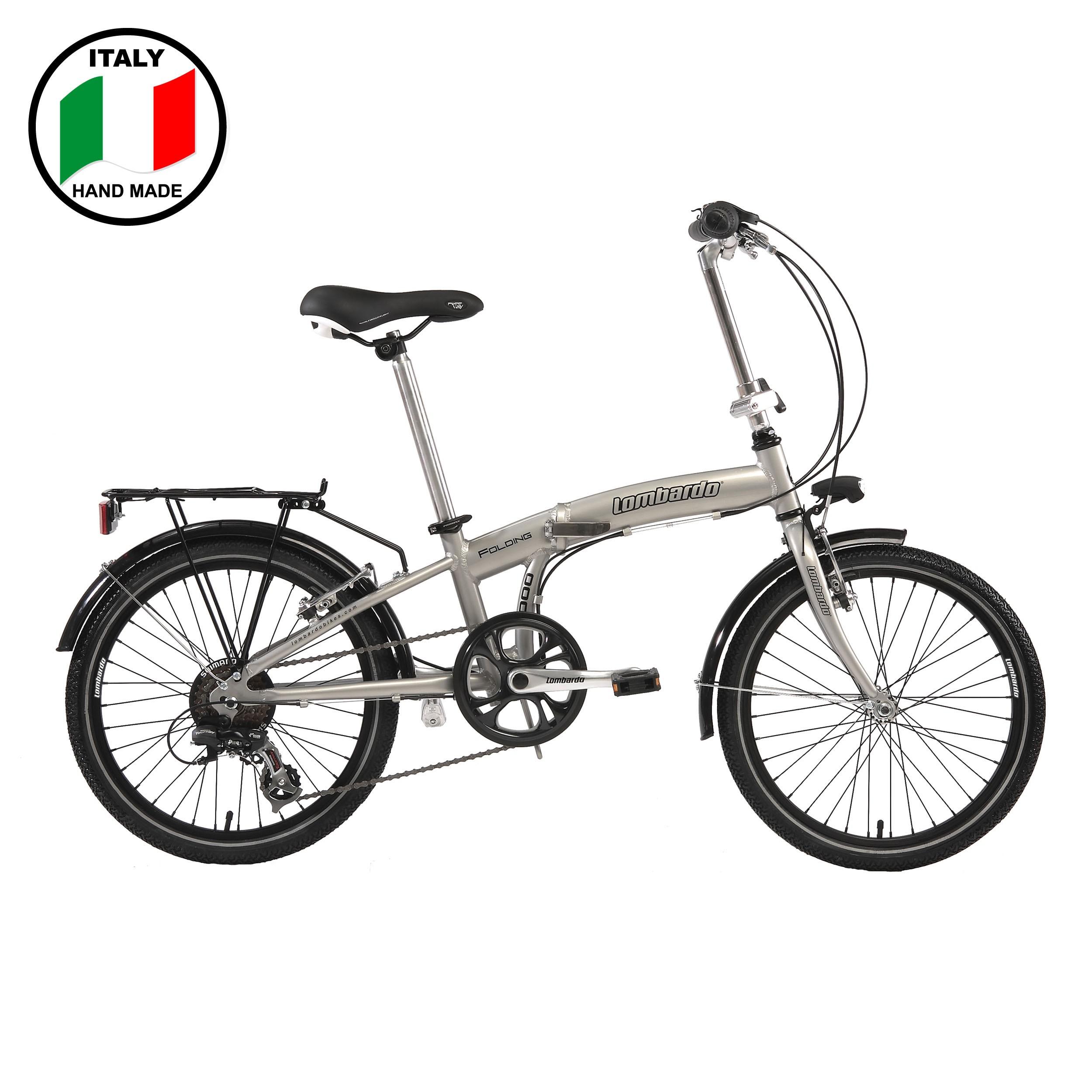 Lombardo Folding 3000 20 inch Bike- Silver