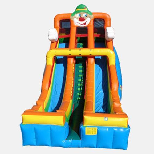 24' Circus Double Lane Slide - Commercial Grade Slide