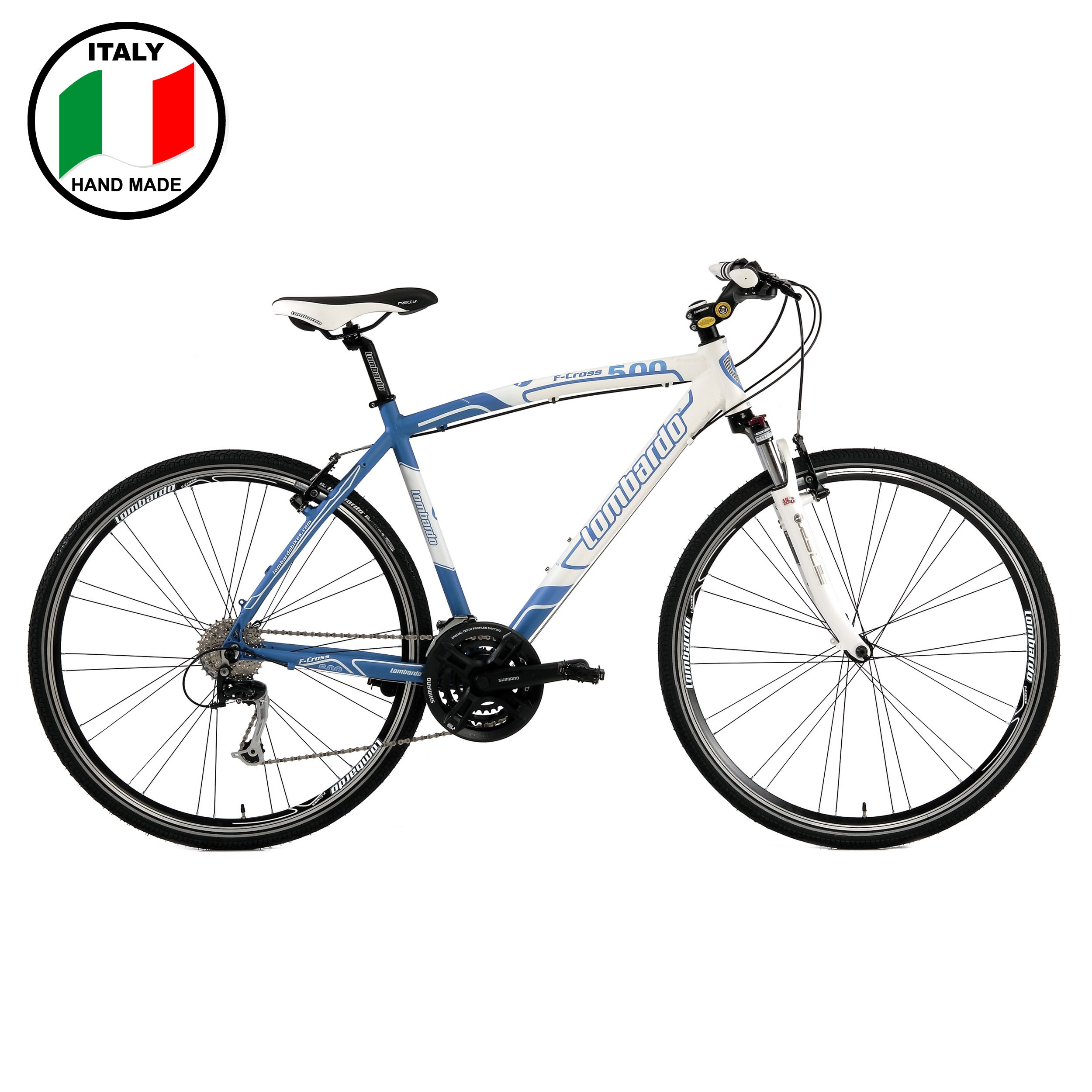 Lombardo F-Cross 500 Mens 28 inch Bike- Blue and White