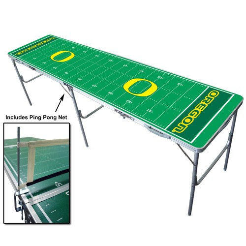 NCAA Licensed Foldable Tailgate Table with Ping Pong Net
