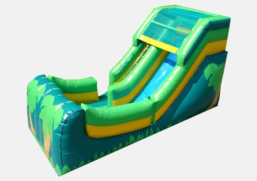 12' Tropical Theme Wet and Dry Slide - Commercial Inflatable Slide