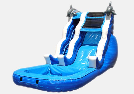 16' Double Drop Waterslide - Commercial Grade Inflatable