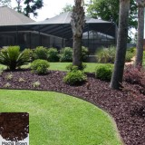 YardWise Recycled Rubber Landscape Mulch Mocha Brown