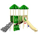 Ultra Play UP and Down Double Deck Commercial Playsystem - Natural