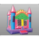Pink Castle 3 - Commercial Inflatable Bounce House