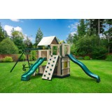 Congo Safari Lookout and Climber Maintenance-Free Swing Set