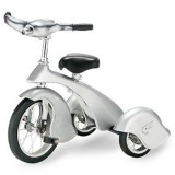 Morgan Cycle Retro Style Silver Steel Tricycle