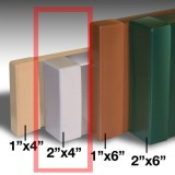 2x4 Inch End Cap Replacements for Congo Monkey Playsystems - Set of 6 (Multiple Colors Available)