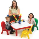Angeles® Baseline® Toddler Square Table and 4 Chair Set, Multiple Colors