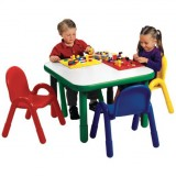Angeles® Baseline® Preschool Square Table and 4 Chair Set, Multiple Colors