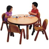 Angeles® Baseline® Preschool Round Table and 4 Chair Set, Multiple Colors