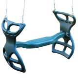 Molded Back-To-Back Glider With Rope - Multiple Colors Available