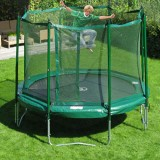 JumpFree 15 Foot Trampoline With Safety Enclosure - Green