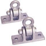 Commercial Swing Hanger Galvanized to Attach to Wooden Beams - Set of 2