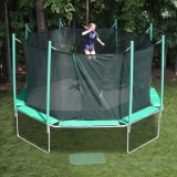 16' Octagon Magic Circle Trampoline With Integrated Safety Cage