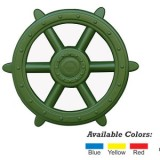 Green Ships Wheel - Play Set Accessory