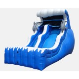 18' Ocean Themed Double Drop - Commercial Inflatable Waterslide